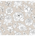 delicate decorative seamless pattern with peonies vector image