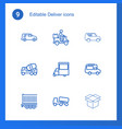 deliver icons vector image vector image