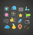 Different simple web icons collection Flat design vector image