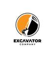 excavator icon logo design templateconstruction vector image