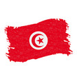 flag of tunisia grunge abstract brush stroke vector image vector image