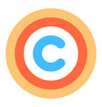 Flat icon copyright symbol or sign vector image