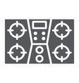 gas stove glyph icon kitchen and cooking cooker vector image vector image