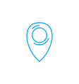 geolocation linear icon concept geolocation line vector image