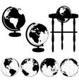 Globes silhouettes vector | Price: 1 Credit (USD $1)
