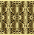 gold 3d textured floral seamless pattern vector image