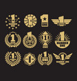 golden number one retro identity logos and labels vector image vector image
