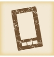 Grungy smartphone icon vector image