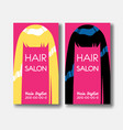 hair salon business card templates with blonde vector image vector image