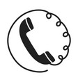 handset phone flat icon on white background stock vector image vector image