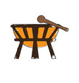 isolated drum icon musical instrument vector image vector image