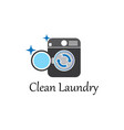 laundry logo icon template vector image vector image