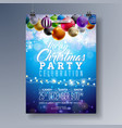merry christmas party fliyer design with holiday vector image vector image