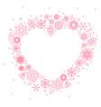 minimalist floral background heart frame vector image vector image