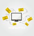 Newsletter concept vector image