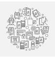 NFC payment circular vector image vector image