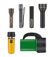 night flashlight object for searching in dark vector image