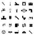 plumbing icon set vector image vector image