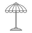 pool umbrella icon outline style vector image
