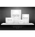Poster template standing on a shelf vector image vector image