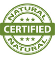 pure Natural stamp vector image vector image