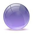 Purple abstract 3d icon ball vector image vector image