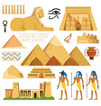 pyramid egypt history landmarks cultural vector image