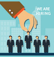 recruitment a candidate vector image