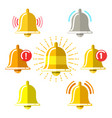 reminder signal flat icons vector image