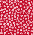 Seamless Christmas Winter Pattern with Snowflakes vector image vector image