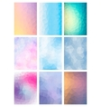 Set Abstract Modern Poligonal Background vector image vector image
