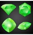 set green gemstones vector image vector image
