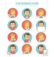 Set of flat business icons with businessmans and vector image