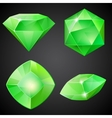 Set of green gemstones vector image