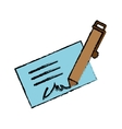 signature and pen icon image vector image vector image