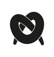 Simple black pretzel icon style or design vector image