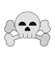 skull and crossbones icon image vector image