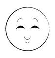 smiling chat emoticon sketch vector image vector image