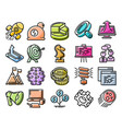 startup line icon set vector image vector image