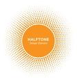 Sun Circle Halftone emblem Design Element vector image vector image