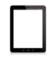 tablet computer black vector image