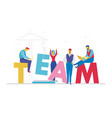 team - flat design style colorful vector image vector image