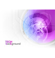 tech background purple corner round vector image vector image
