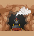 train ride through the cave vector image