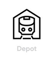 tram and subway depot icon editable line public vector image