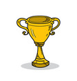 trophy on a white background vector image vector image