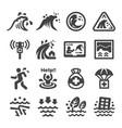tsunami icon vector image vector image