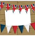 Uk bunting decoration