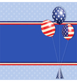 USA balloons vector image vector image