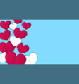 valentines day concept background paper hearts vector image vector image